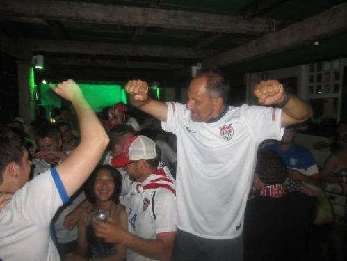 Fabian celebrates